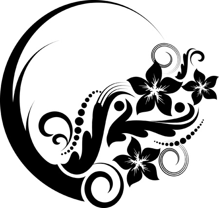 decorative frame: Elegant oval frame