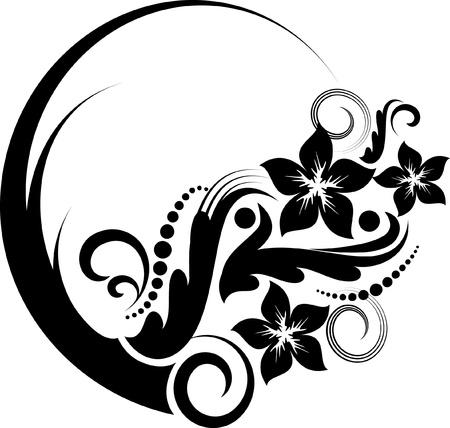 decorative style: Elegant oval frame