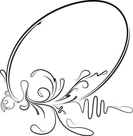 owalne: Elegancki owalne ramki