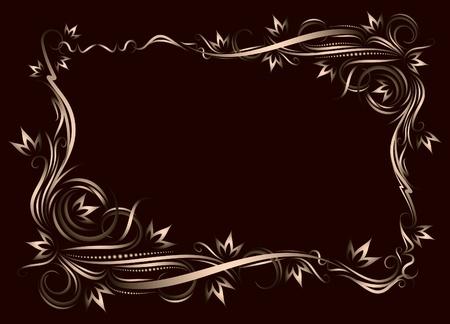 etiqueta: Decorative frame.  Illustration