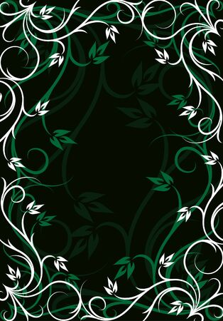 Elegant green background  Иллюстрация