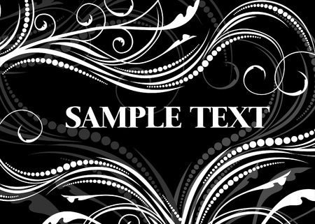 Black-and-white background. Stock Vector - 9929836