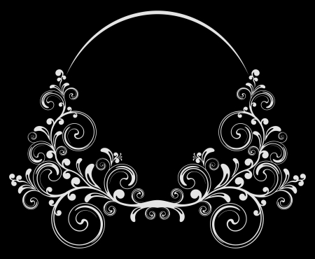 Black-and-white background.  Vector