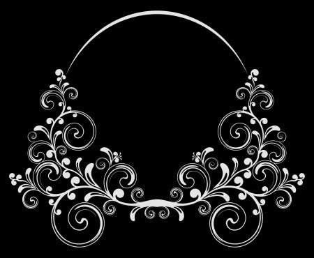 Zwart-witte achtergrond.  Stock Illustratie