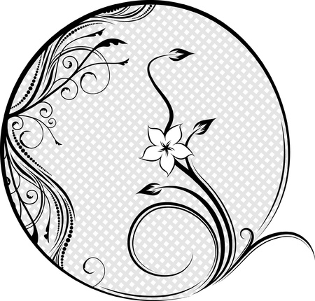 initials: Decorative flourishes element for embroidery.  Illustration