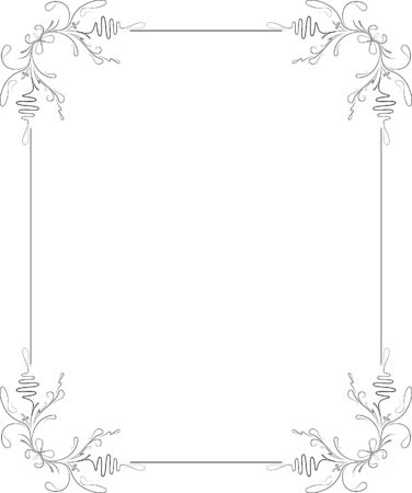 twigs: Elegant decorative frame. Illustration