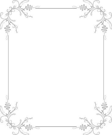 Elegante marco decorativo. Ilustración de vector