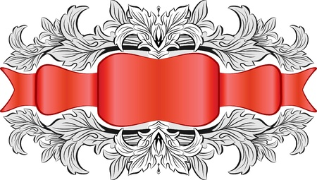 Vintage frame with ribbon Stock Vector - 9929921