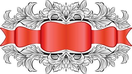 etiqueta: Vintage frame with ribbon