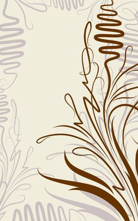 Floral background with branch Vector