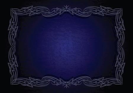 etiqueta: Elegant blue frame.