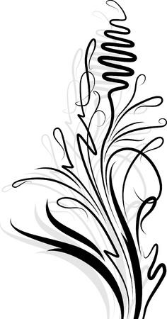 Bloemen tak met schaduw