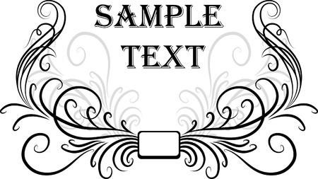 scroll design: Elegant texts frames.