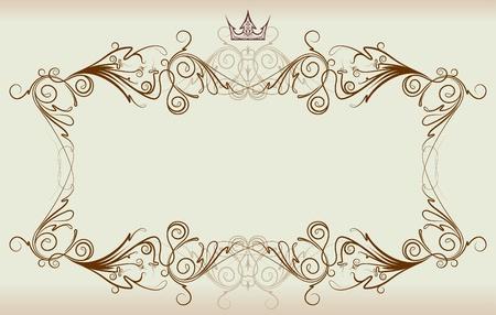 Vintage frame met kroon
