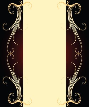 ringlet: Elegant vintage background