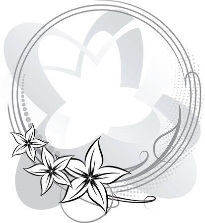 Elegant oval frame with flower. Stock Vector - 9930104