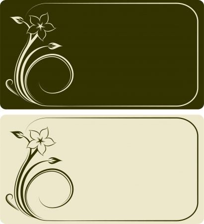 Visiting cards.  Vector
