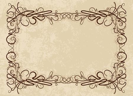 Elegante vintage frame Stock Illustratie