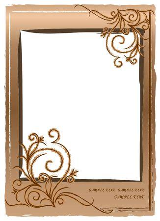Abstract shabby frame.  Vector