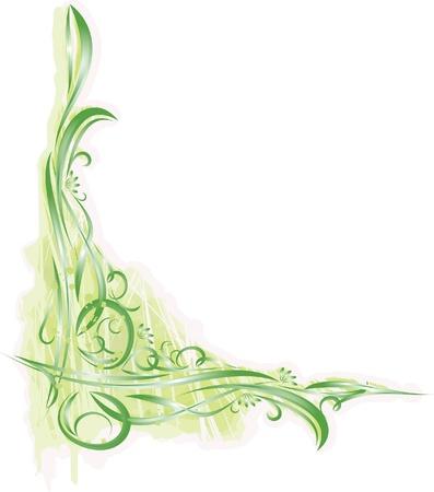tendrils: decorative floral corner