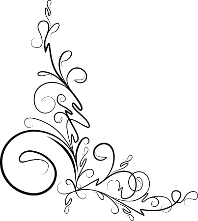 beautiful floral corner  Stock Vector - 9930098