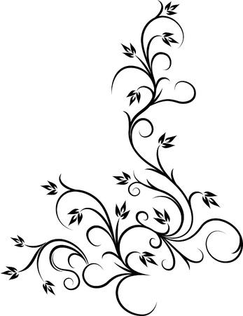 beautiful floral corner  Vector