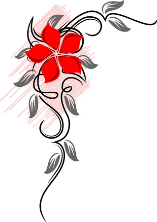 Beautiful flower.  Stock Vector - 9930362