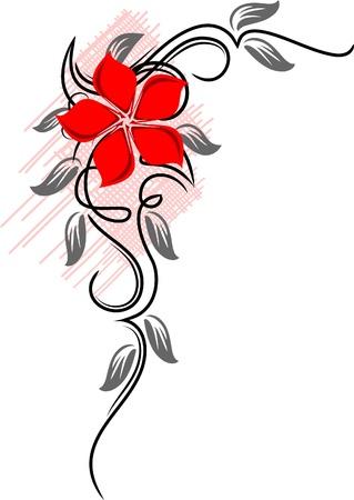 Mooie bloem.  Stock Illustratie