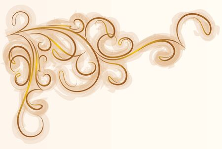 Decorative branch with shade.  Vector