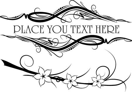 revival: Elegant texts frames.