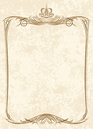 Oude lijst Stock Illustratie