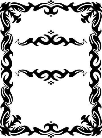 accents: Colecci�n de cuadros decorativos Vectores