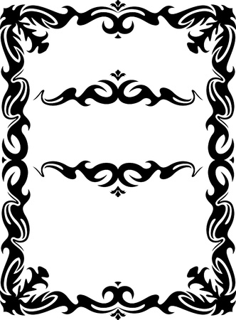 Collection of decorative frames Stock Vector - 9930259