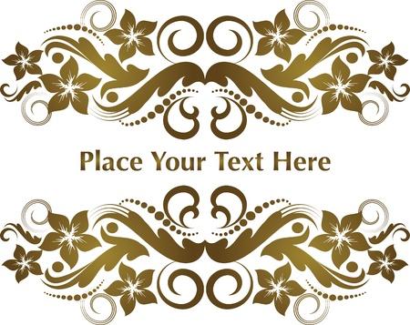 Elegant text frame.