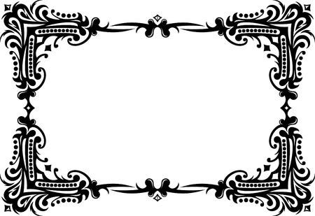 accents: Elegante marco decorativo. Vectores