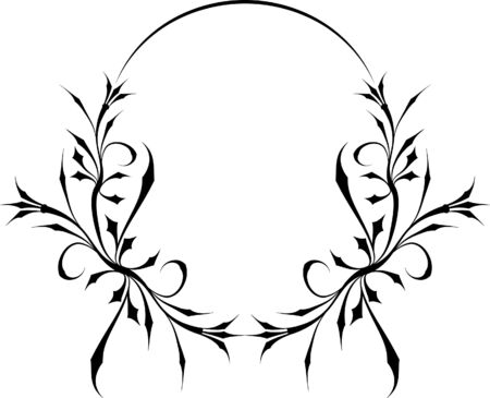 Beautiful oval frame. Stock Vector - 9930261