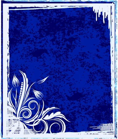 Elegant blue frame.  Vector