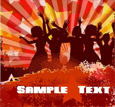 Musical background.  Vector