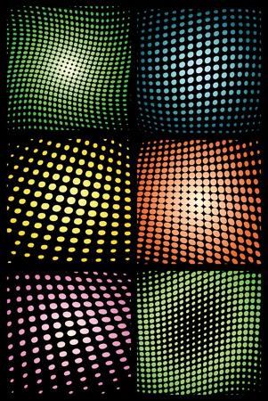 Grafische halftone elementen. Stock Illustratie