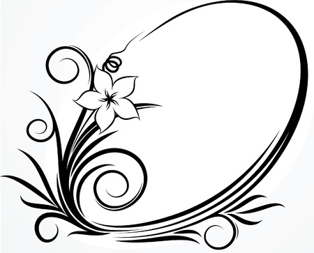 Beautiful oval frame. Vector Stock Vector - 10707128
