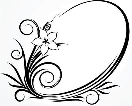 frame vector: Beautiful oval frame. Vector