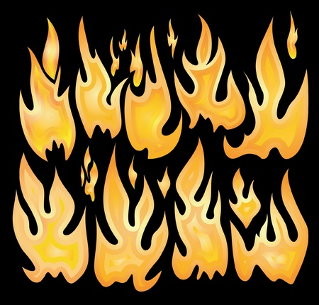 Collection of vector fires. Stock Vector - 10708684