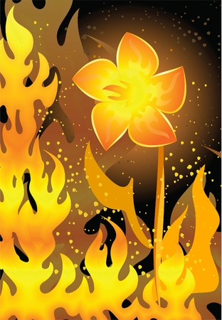 decorative background on fire style Stock Vector - 10709109
