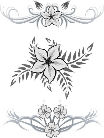 Set of 3 decorative elements Stock Vector - 10707345