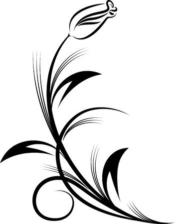Floral corner. Vector illustration.