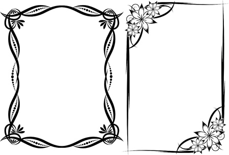 Collection of decorative frames Stock Vector - 10707272