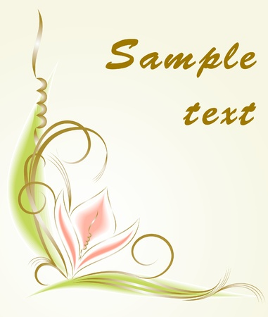 Floral decor in water-colours  Vector