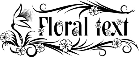 esquineros de flores: Fondo floral abstracto