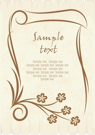 Vintage vector background.  Vettoriali