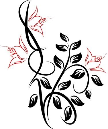 tatouage fleur: Magnifique fleur.